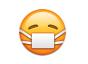 Emoticon mit Mundschutz