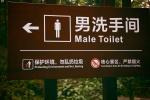 Männliche Toilette
