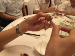 Weintrauben essen, Schwerstarbeit