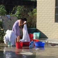 Wäsche waschen – harte Arbeit